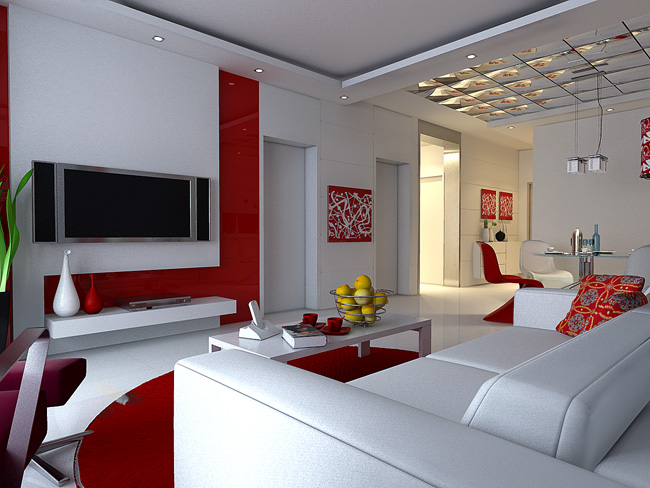 Colores Dormitorio Feng Shui Red Personalisierte Wohnzimmer Modell 3d Model Download