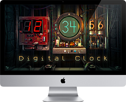Fireplace 3d Wallpaper Mac Os X 3d Bildschirmschoner Digital Clock