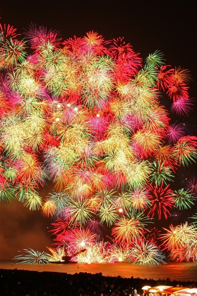 3d Wallpaper For Iphone 3gs Wundersch 246 Nes Feuerwerk Nacht Iphone X 8 7 6 5 4 3gs