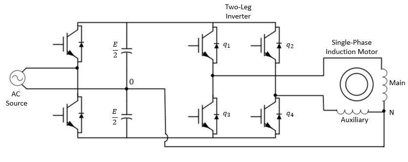 single phase motor circuit diagram