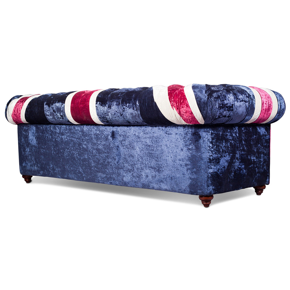 Chesterfield Sessel Samt Union Jack Chesterfield Sofa Samt