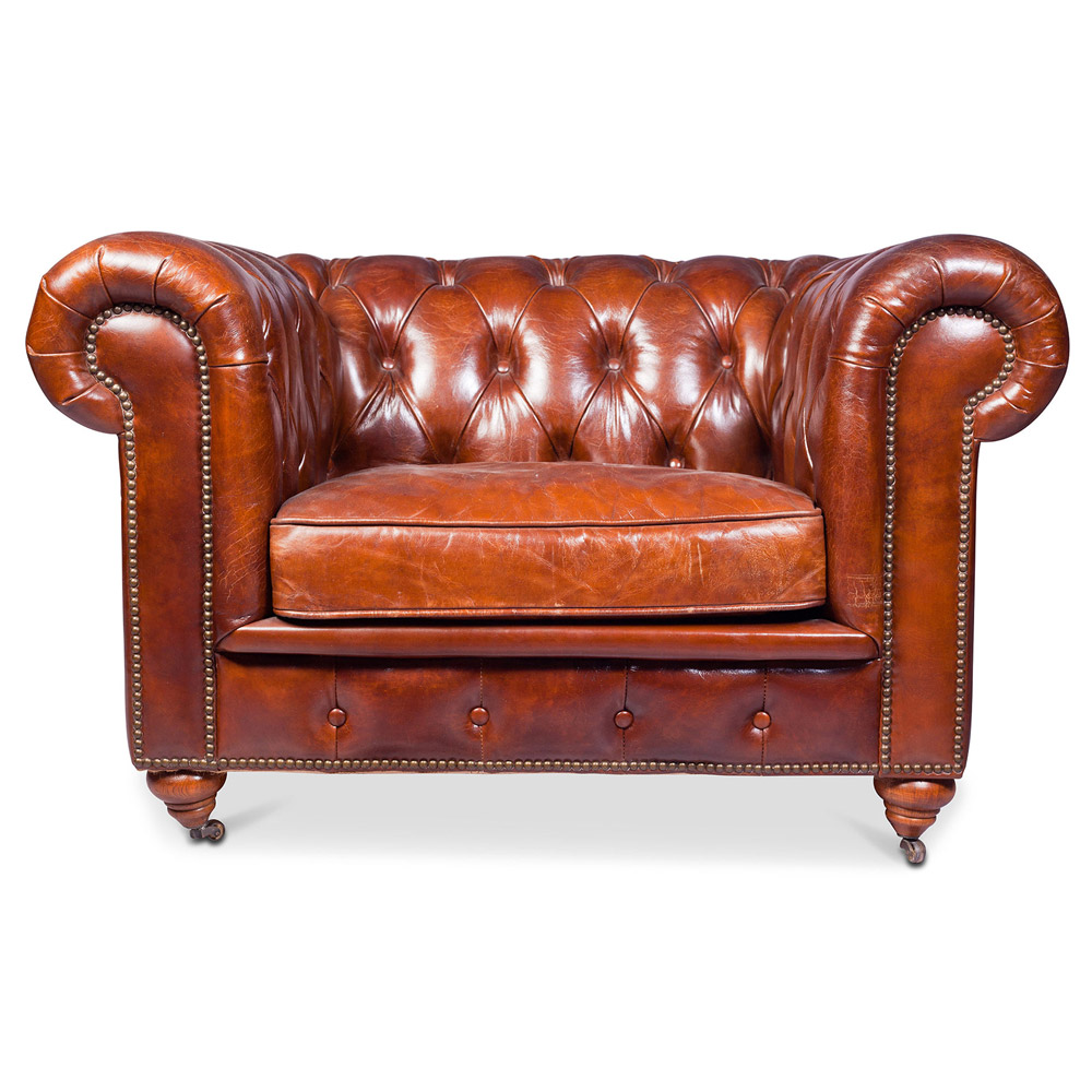Chesterfield Sessel Chesterfield Sessel Churchill Lounge Hochwertiges Leder