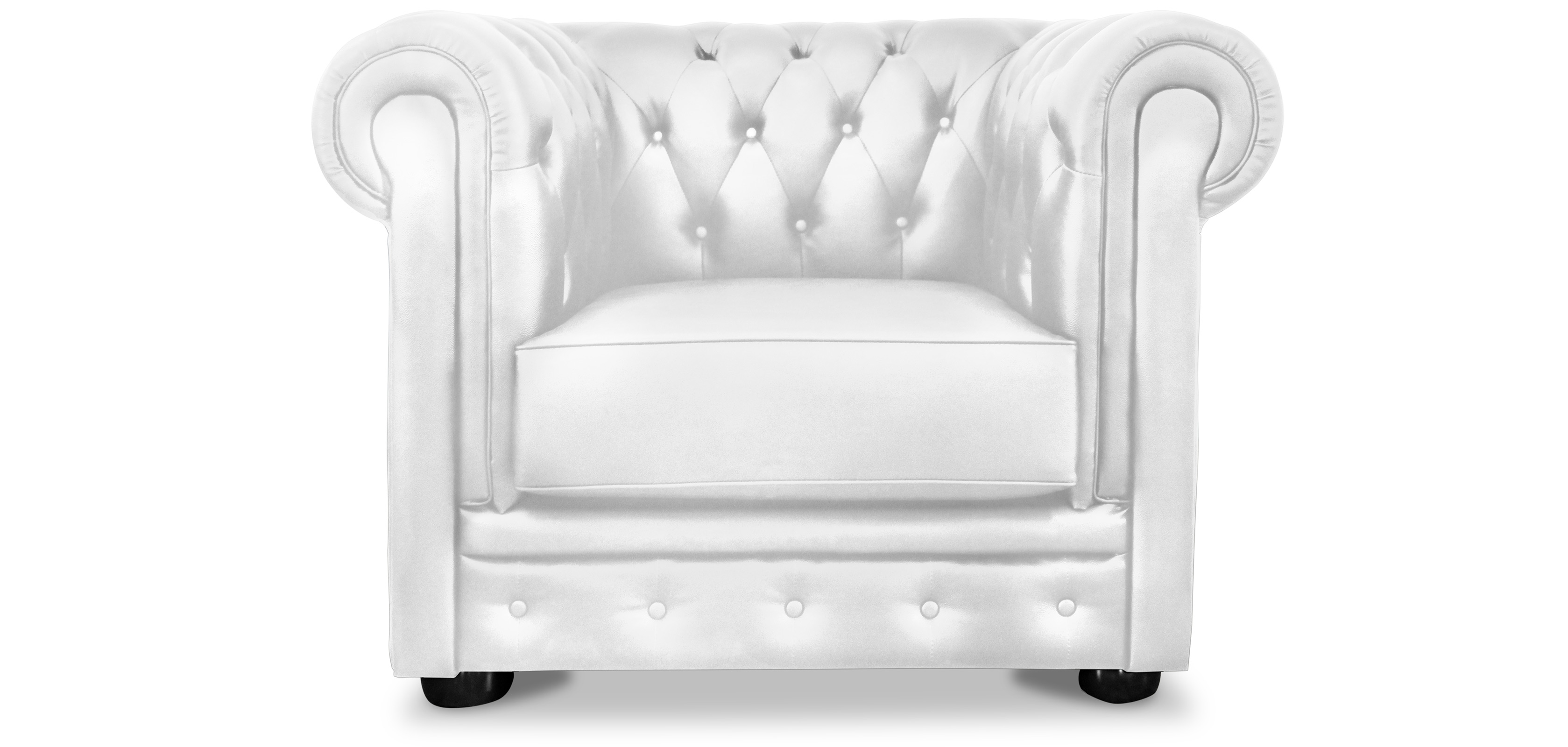 Chesterfield Sessel Weiss Pearly Chesterfield Sessel Hochwertiges Leder