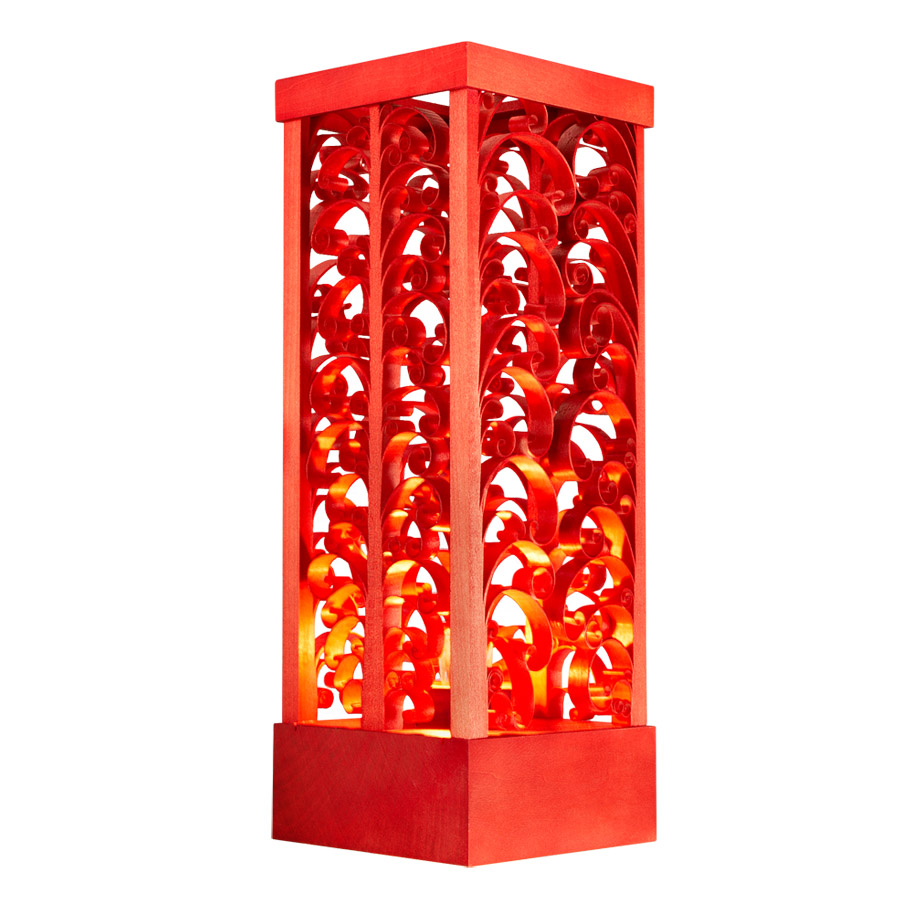 Christbaumspitze Glas Rot Stehlampe Rot A
