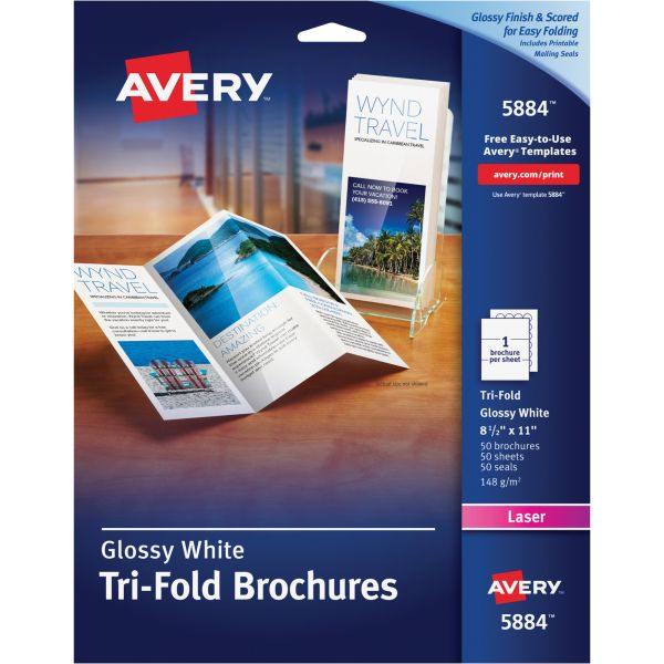 Avery Tri-Fold Brochure Paper - AVE5884 OfficeSupply