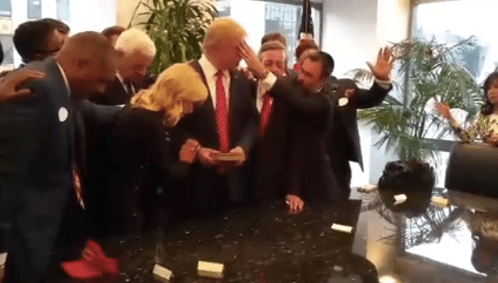 Evangelical Leaders Lay Hands On Trump In Closed Door