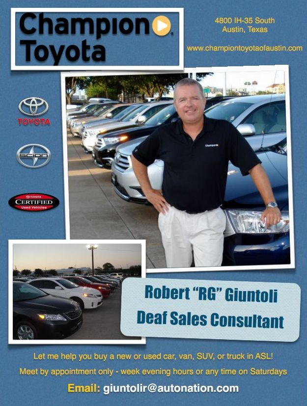 New and Used Cars/Trucks Deaf Sales Consultant \u2013 Deaf Network of Texas - car sale flyer