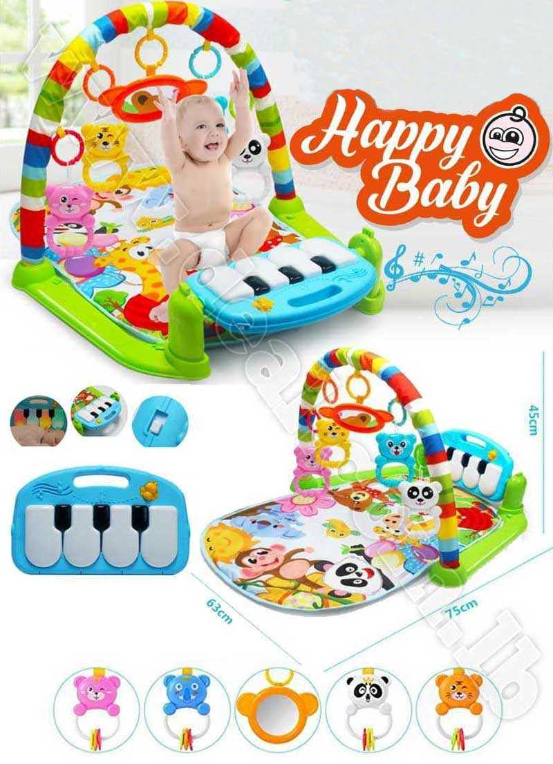 How To Play Newborn On Piano Kick And Play Newborn Toy With Piano For Baby