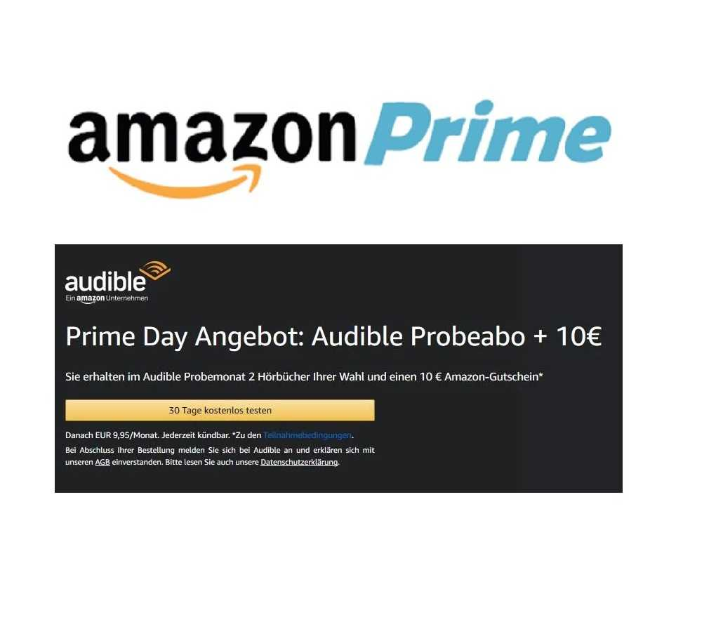 Amazon Audible Kostenlos Amazon Prime 30 Tage Kostenloses Probeabo Audible 10