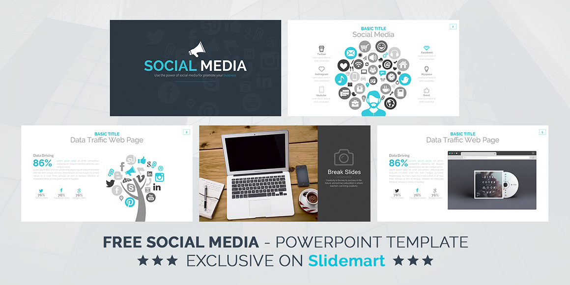 Social Media - Free Powerpoint Template - Dealjumbo \u2014 Discounted - free powerpoint graphics templates