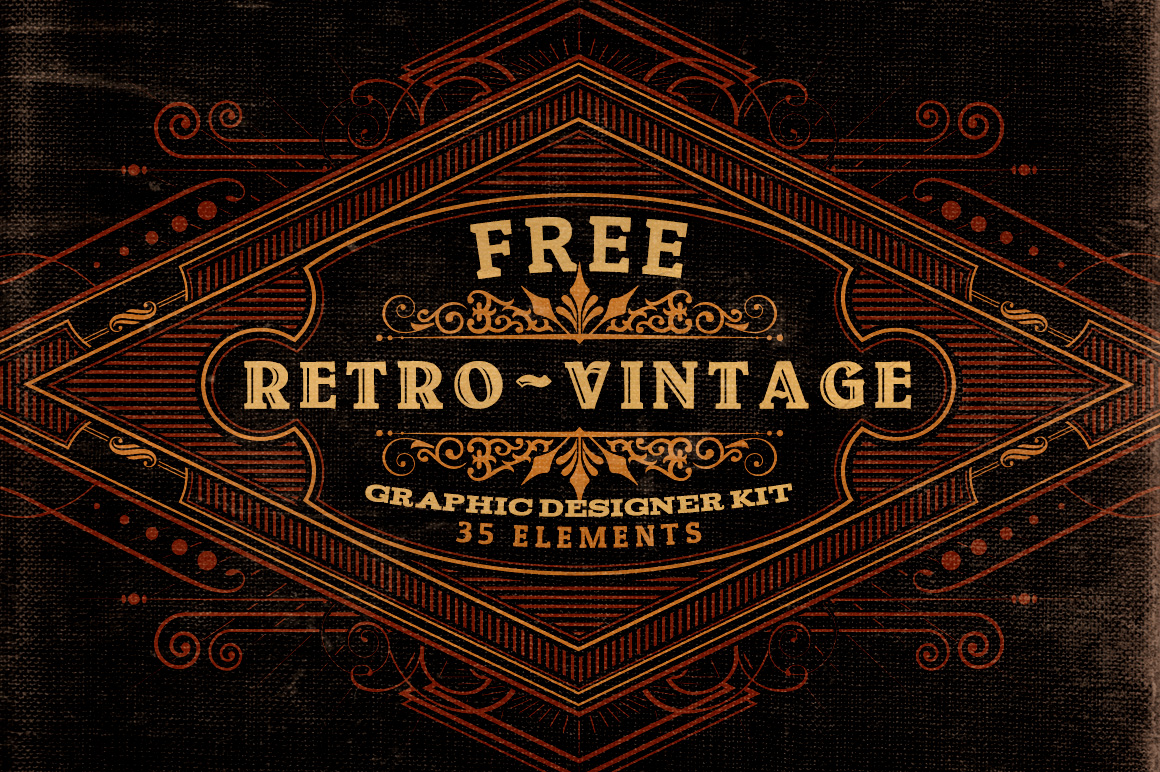 Vintage Design Free Retro Vintage Graphic Designer Kit V 2 Dealjumbo