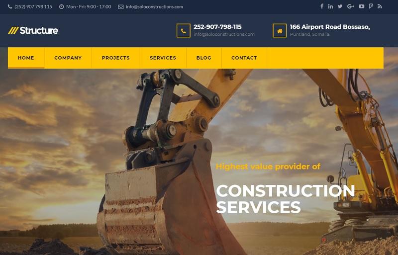 Solo Construction Limited - Website Design - Dealpoa