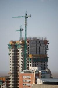 Construction apartment building