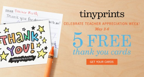 5 FREE Thank You Cards from Tiny Prints! - free thank you cards
