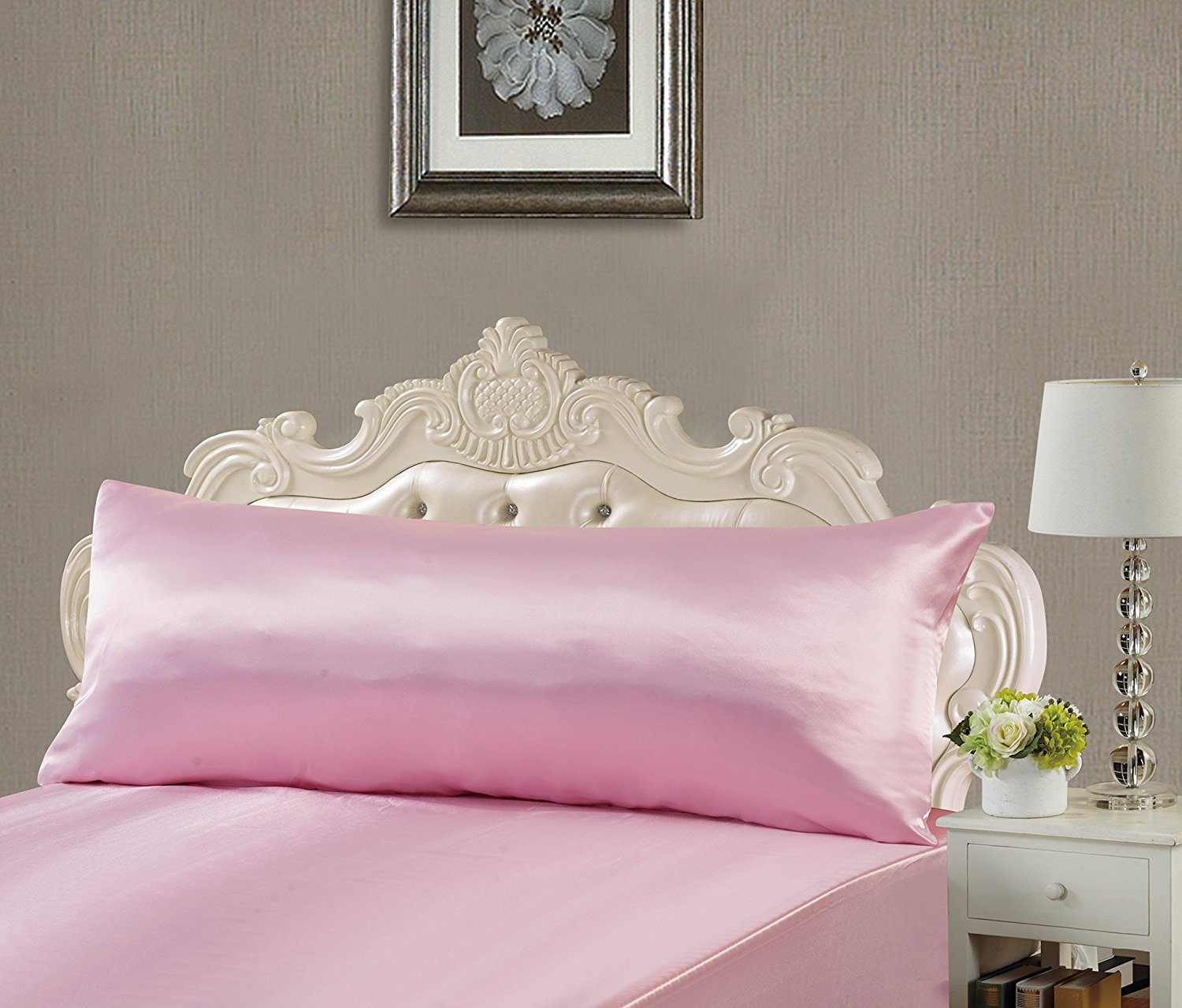 Satin Pillowcases With Zipper Deals Finders Amazon Super Soft Silky Satin Body Pillowcase