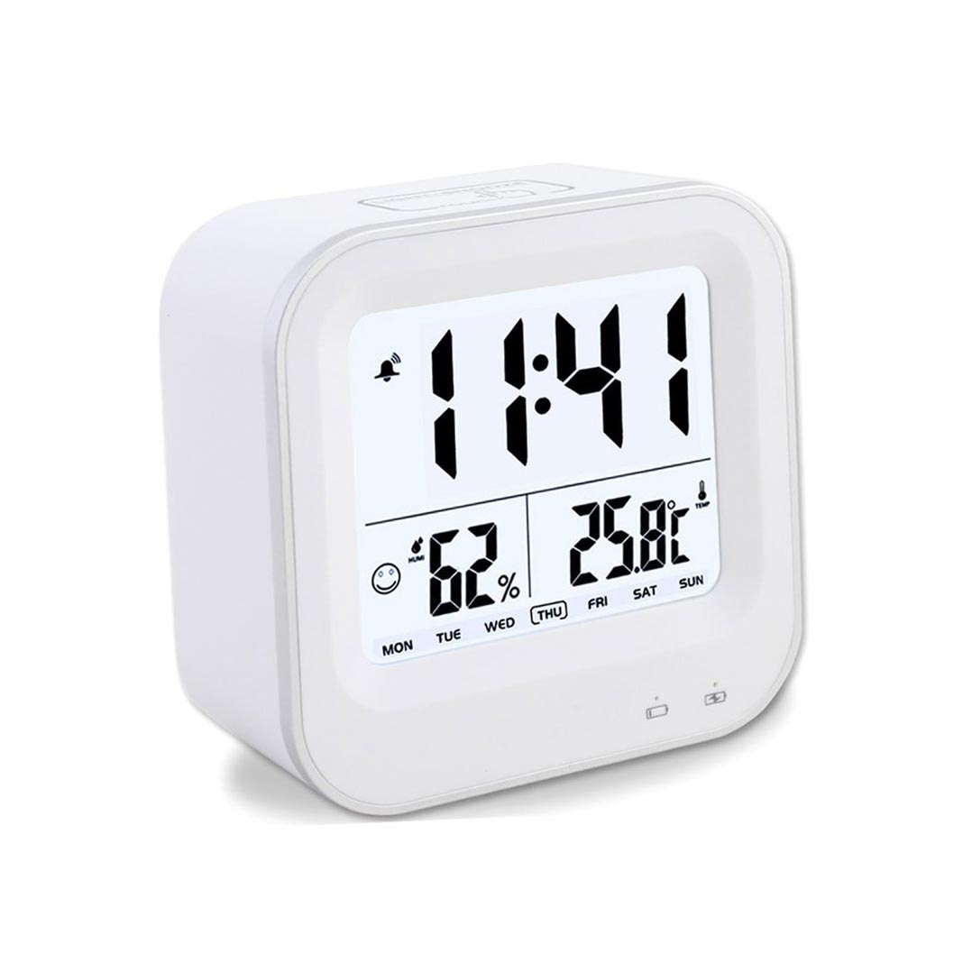 Digital Desk Clock Samshow Small Desk Digital Alarm Clock Rechargeable