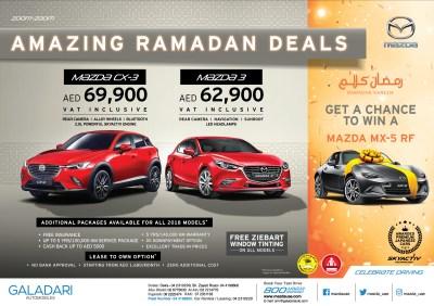 Mazda Offers - Ramadan 2018 Deals on Mazda CX-3 and Mazda 3 - Deal Souq