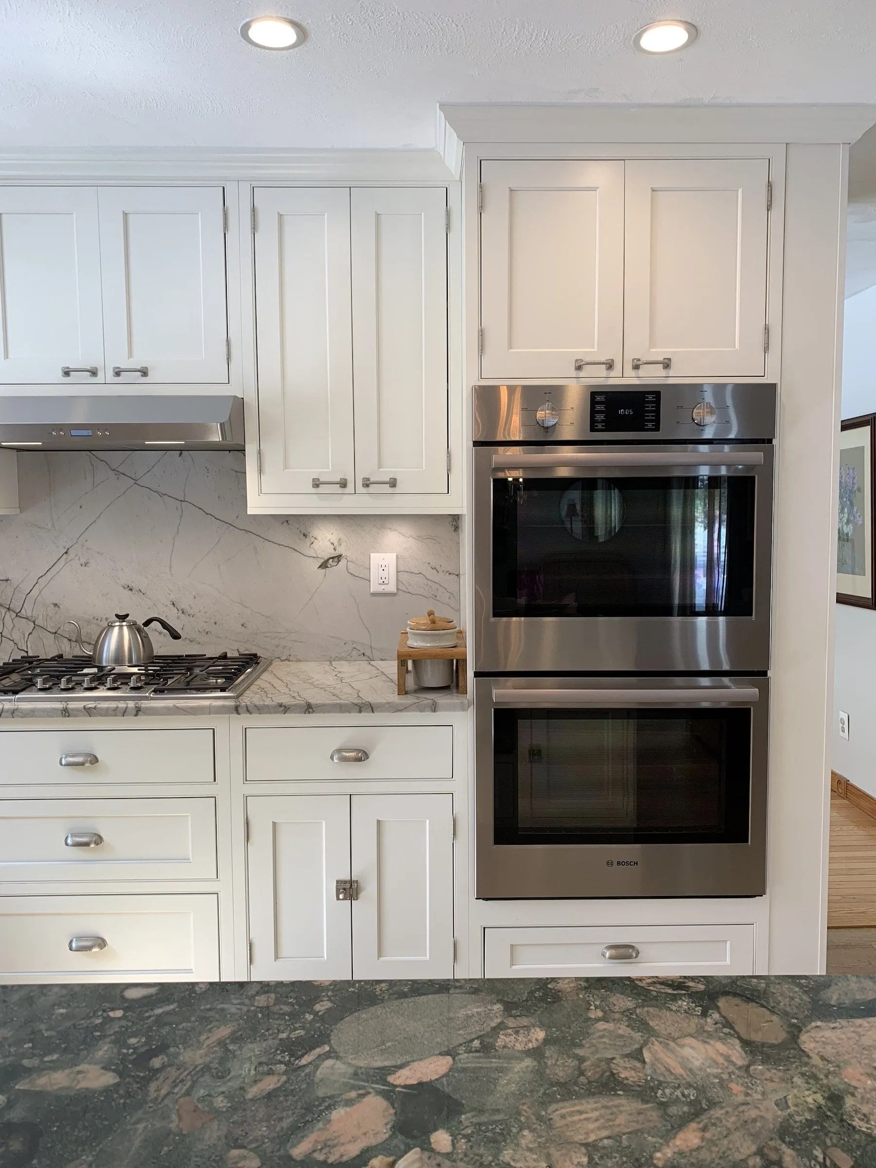 Showplace Semi Custom Off White Inset Kitchen Dean Cabinetry
