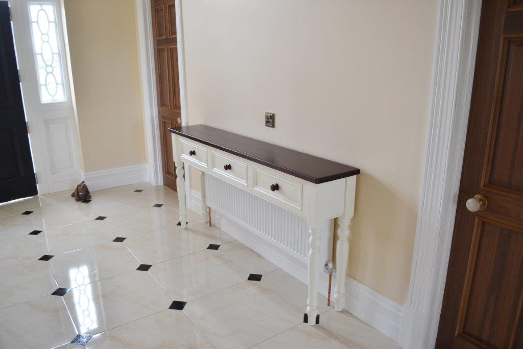 Home Radiator Covers Deanery Hall Table Radiator Cover With Dark Stain Pine Top