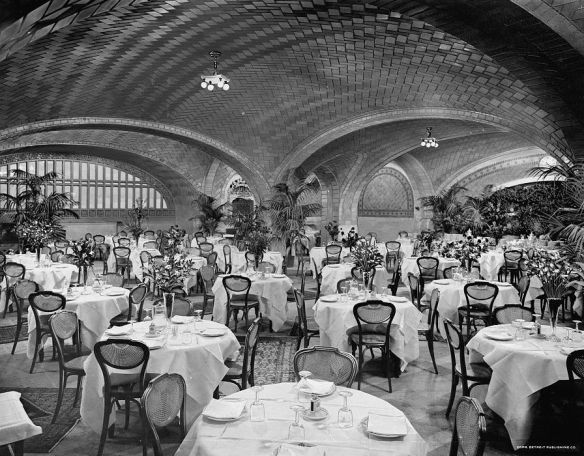 Grand Central Terminal Restaurant, c. 1920 - image from  Library of Congress, Prints and Photographs Division