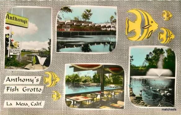 Antony's Fish Grotto La Mesa postcard