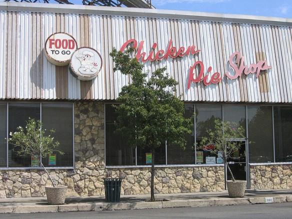 Storefront of Chicken Pie Shop, Fresno