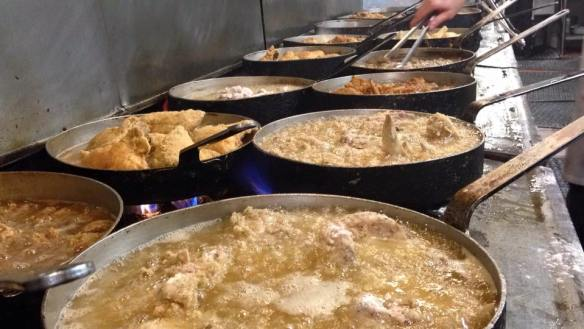 frying the chicken at Stroud's - photo by Stroud's North facebook page