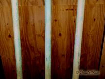 Stripped Rocker, residual green paint