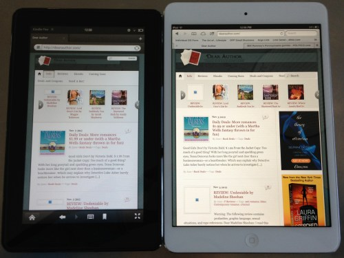iPad Mini v Kindle Fire web