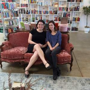 Ripped Bodice Leah and Bea on couch