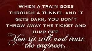 be still train
