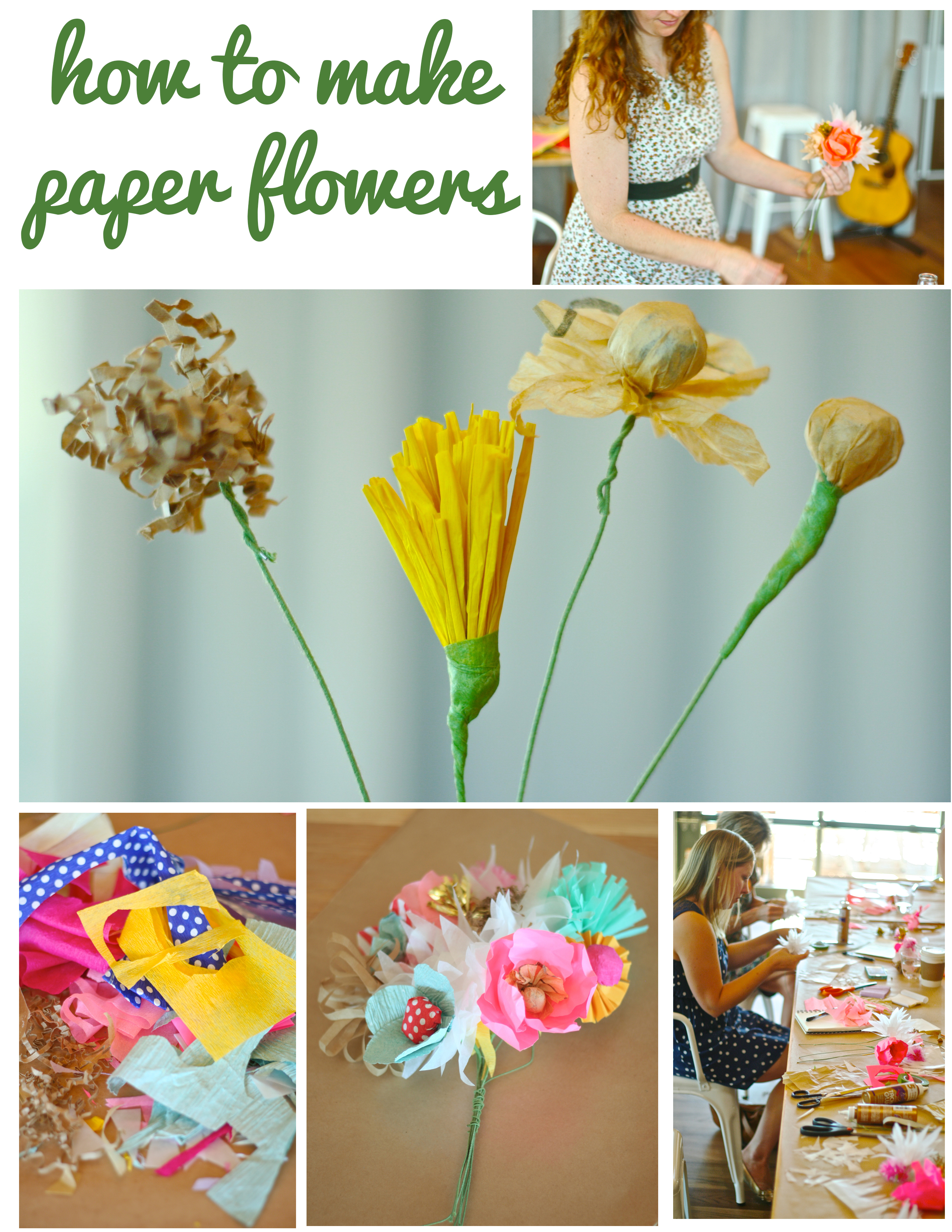 How To Make Handmade Flowers From Paper How To Make Paper Flowers With Courtney Cerruti Dear