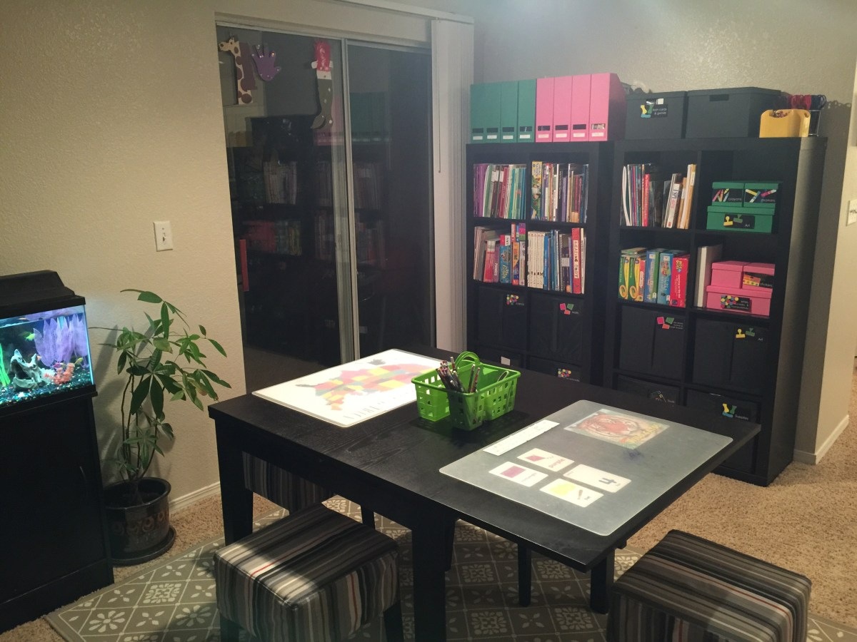 Our School Room: Homeschooling in a Small Space