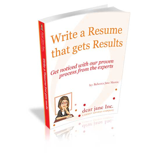 Write a Resume that gets results e-doc dear jane