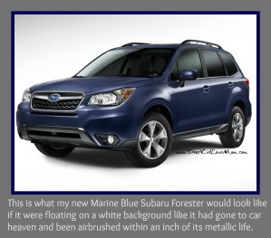 What my Subaru Forester would look like if it were in car heaven.