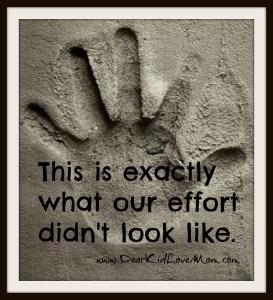 cement handprint