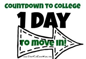 countdown to college dorm move in