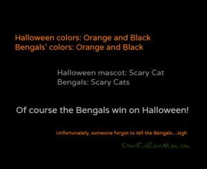Cincinnati Bengals on Halloween DearKidLoveMom.com