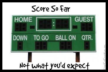 Score so far. Weekend roundup of scores. DearKidLoveMom.com