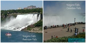 American and Canadian Falls at Niagara DearKidLoveMom.com
