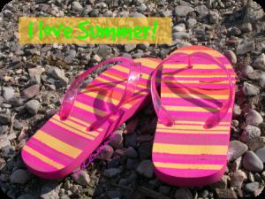 Flip flops are perfect for summer. DearKidLoveMom.com