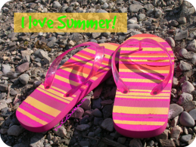 Flip flops are perfect for summer. DearKidLoveMom.com