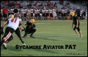 Sycamore HS Aviators Point After Touchdown! DearKidLoveMom.com