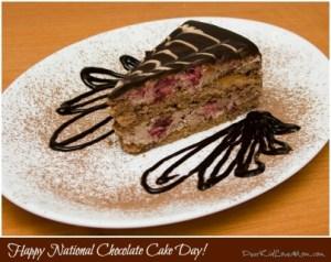 Happy National Chocolate Cake Day! DearKidLoveMom.com