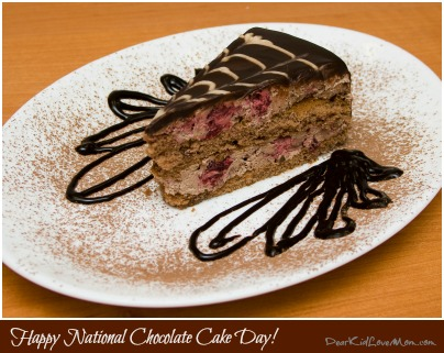 Happy National Chocolate Cake Day! DearKidLoveMom.com