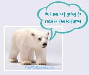 Puppy thinks polar bears should be in the Iditarod. DearKidLoveMom.com