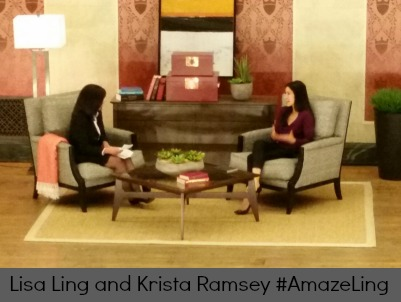 Lisa Ling and Krista Ramsey at Cincinnati's Memorial Hall #AmazeLing DearKidLoveMom.com