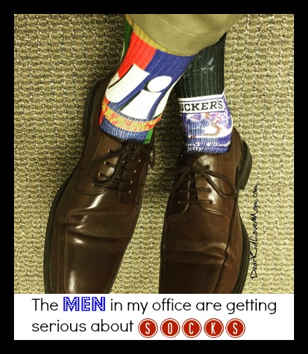 The men in my office are getting serious about socks. DearKidLoveMom.com