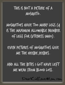 This is not a mosquito. DearKidLoveMom.com