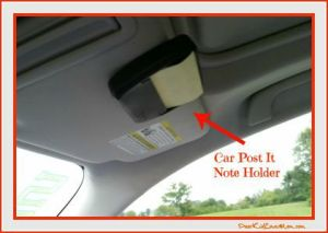 People have asked why I have a car Post-It note holder in my car... DearKidLoveMom.com